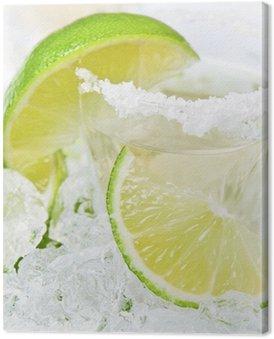 Obraz na Płótnie Złota tequila z solą i limonką