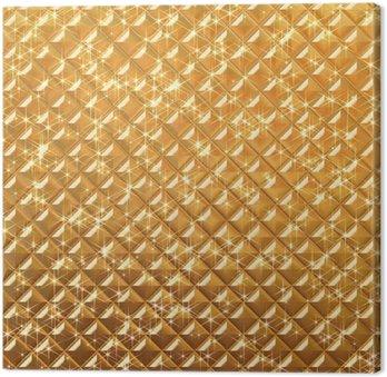 Obraz na Płótnie Złoto pikowania tle