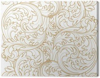 Złoty archiwalne ramki przewijania ornament granicy grawerowanie kwiatowy wzór retro antyczne style liści akantu wirować dekoracyjny element filigran kaligrafii wektor | adamaszku - Grafika wektorowa