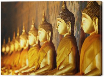 Obraz na Płótnie Złoty Buddy w świątyni