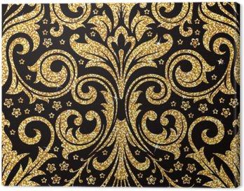 Obraz na Płótnie Złoty kwiatu tapety