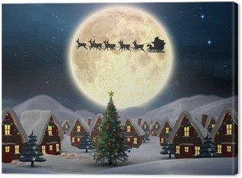 Obraz na Płótnie Złożony obraz cute Boże Narodzenie wsi