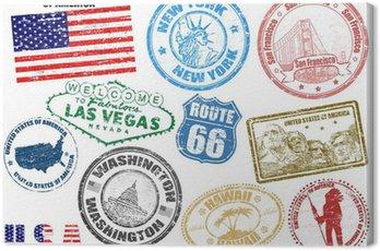 Obraz na Płótnie Znaczki z USA
