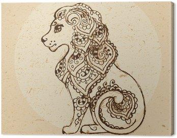 Obraz na Płótnie Znak zodiaku - Leo.