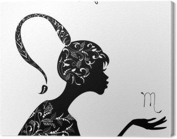 Obraz na Płótnie Znak zodiaku skorpion znak. dziewczyna mody