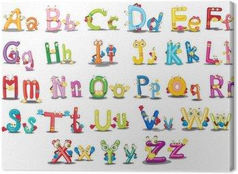 Obraz na Płótnie Znaków alfabetu