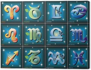 Obraz na Płótnie Zodiaco simbolo-Zodiak Symbole-Vector