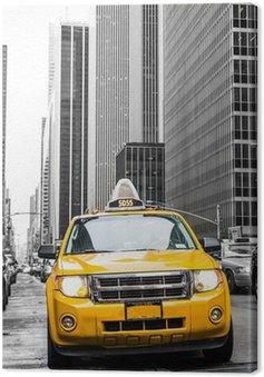 Obraz na Płótnie Żółta taksówka w Nowym Jorku