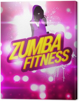Obraz na Płótnie Zumba Fitness szkolenia tle