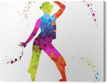 Obraz na Płótnie Zumba z kolorowych kropek