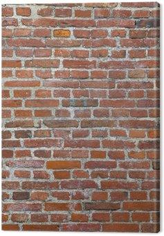 Obraz na Płótnie Zużyte tle Red Brick Wall
