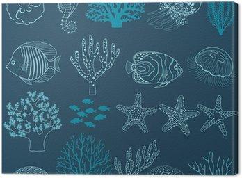 Obraz na Płótnie Życie podwodne elementy konstrukcji