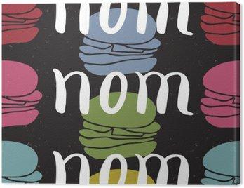 Obraz na Płótnie Żywność typograficzny karty cytat