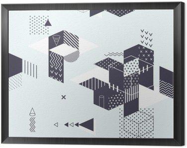 Obraz v Rámu Abstraktní moderní geometrické pozadí
