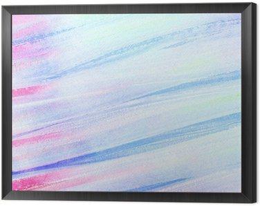Obraz v Rámu Abstraktní umělecké akvarel tahy štětcem