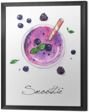 Obraz v Rámu Akvarel Food Malba - Smoothie