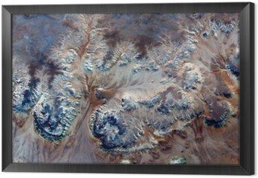 Obraz v Rámu Alegorie podvodní květiny, kámen závod fantazie, abstraktní naturalismus, abstraktní fotografie pouště v Africe ze vzduchu, abstraktní surrealismus, mirage, fantazie tvoří v poušti, rostliny, květiny, listy,