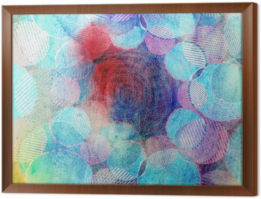 Obraz v Rámu Barevné kruhy ilustrace umění