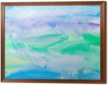 Obraz v Rámu Barevné tahy akvarelu umění