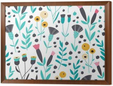 Obraz v Rámu Bezešvé jasný skandinávský květinovým vzorem