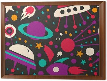 Obraz v Rámu Bezešvé kontrast kosmický vzor