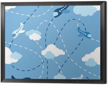 Obraz v Rámu Bezešvé letadlo vzor