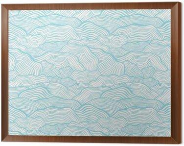 Obraz v Rámu Bezproblémové vzorek s zvlněná stupnice texturou
