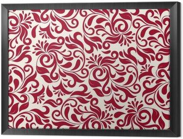 Obraz v Rámu Červené damaškové vzorek