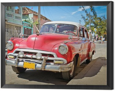 Obraz v Rámu Classic Chevrolet v Trinidad, Kuba