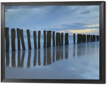 Obraz v Rámu Crépuscule sur la plage de Calais
