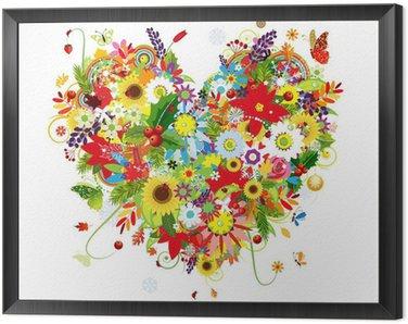 Obraz v Rámu Čtyři roční období. Art tvaru srdce pro svůj design