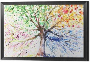 Obraz v Rámu Čtyři sezóny strom