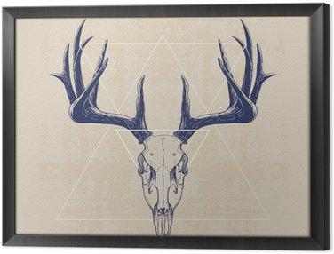 Obraz v Rámu deer skull