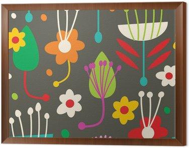 Obraz v Rámu Doodle bezešvé květinovým vzorem
