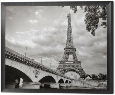 Obraz v Rámu Eiffelova věž pohled z formátu řeky Seiny náměstí
