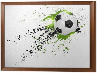 Obraz v Rámu Fotbal designu