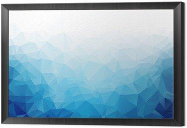 Obraz v Rámu Geometrické modré led textury na pozadí