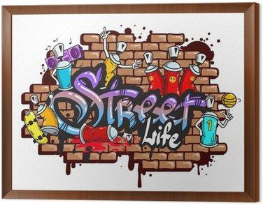 Obraz v Rámu Graffiti slovní znaky složení