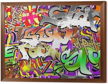 Obraz v Rámu Graffiti urban art bezešvé pozadí