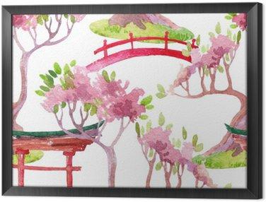 Obraz v Rámu Japonský bezešvé vzor