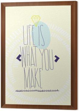 Obraz v Rámu Jednoduché inspirativní motivační cituje plakát s diamantem, Dood