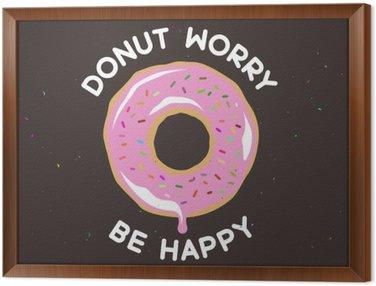 Obraz v Rámu Kobliha worry be happy ročník plakát. Vektorové ilustrace.