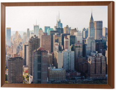 Obraz v Rámu Letecký pohled na panorama New Yorku