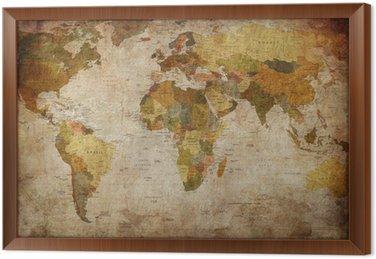 Obraz v Rámu Map world