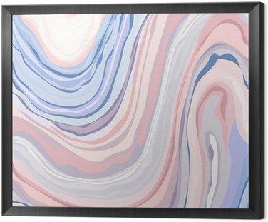 Obraz v Rámu Marble Pattern - Abstraktní textura s Měkké pastely Colors 2016
