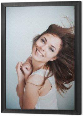 Obraz v Rámu Mladá dívka se šťastně směje