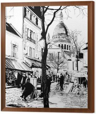 Obraz v Rámu Montmartre v zimě