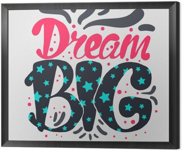 Obraz v Rámu Motivace a Dream popisovaného Concept