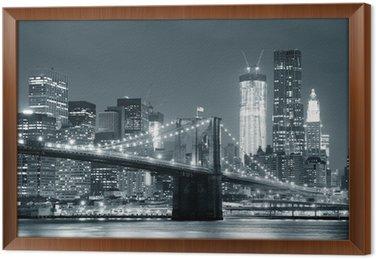 Obraz v Rámu New York City Brooklyn Bridge