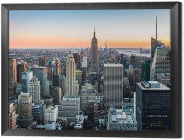 Obraz v Rámu New York Skyline při západu slunce